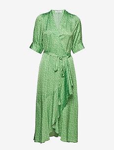 KWELLER - wrap dresses - light sage