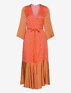 RODEBJER MILLIE - wrap dresses - sandy ochre