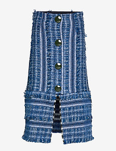LAKE - midi skirts - denim blue