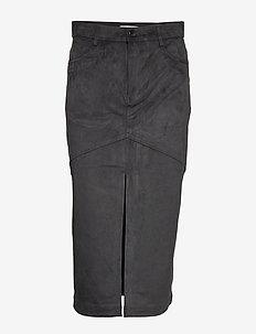 HARMONIA SUEDE - midi skirts - black