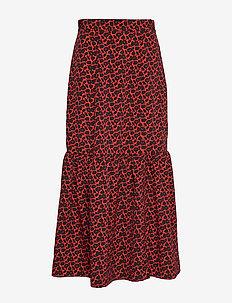 ZIGA MINI - midi skirts - poppy