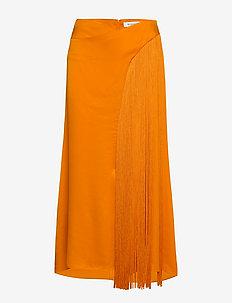 RODEBJER DENIZ FRINGE - midi skirts - clementine