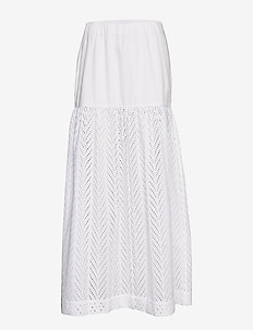 RODEBJER AMALTHEA EMBROIDERY - midi skirts - shirt white