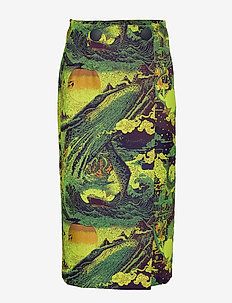 RODEBJER SPLUR - midi skirts - sunny lime