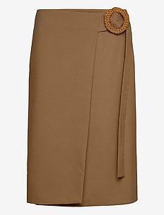 RODEBJER HABIBA WOOL - midi kjoler - camel