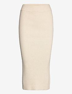 RODEBJER LUDMILA - jupes midi - ceramic white