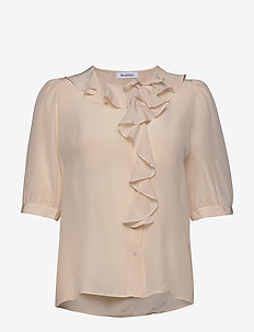 XILLA SILK - blouses à manches courtes - creamy pink