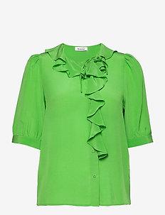 XILLA SILK - blouses med korte mouwen - emerald green