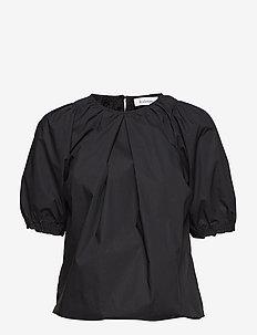RODEBJER NAHUA COTTON - blouses med korte mouwen - black