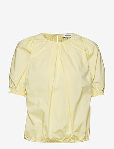 RODEBJER NAHUA COTTON - kortermede bluser - light yellow