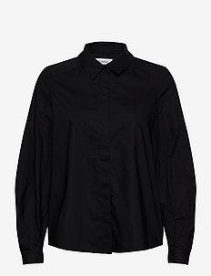 YSABELLA - blouses med lange mouwen - black