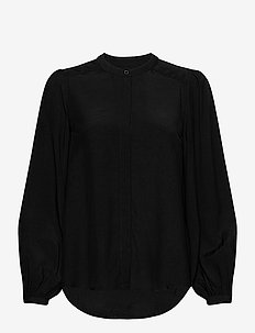RODEBJER LUCY - long sleeved blouses - black