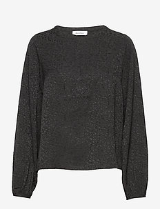 RODEBJER SALIMA DAPPLED - blouses à manches longues - black