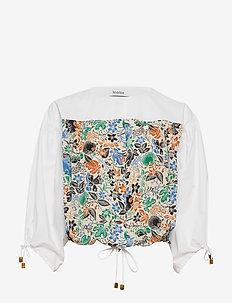 RODEBJER BAEZ - blouses à manches courtes - ecru