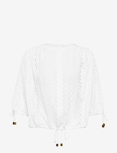 RODEBJER BREEZE EMBROIDERY - langermede bluser - shirt white