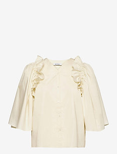 RODEBJER LIBELULA - long sleeved blouses - chalk white