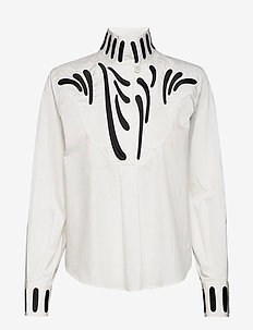 RODEBJER TARESA - long-sleeved shirts - white