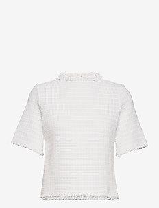 RODEBJER YURDANA - lyhythihaiset puserot - white