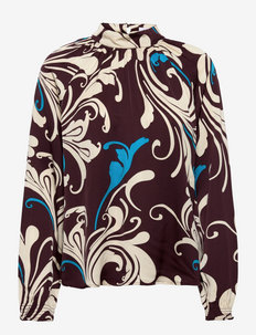 RODEBJER WILDA - blouses met lange mouwen - dark berry