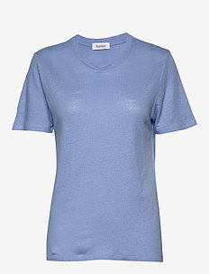 Ninja Linen - basic t-shirts - cloud blue
