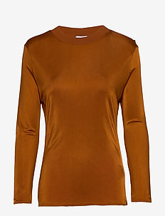 RODEBJER ARWA - long-sleeved tops - cinnamon