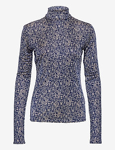 RODEBJER MARIAN SWIRL - langærmede bluser - picasso blue