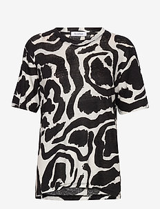 RODEBJER PAINTSWIRL T - t-shirts - black