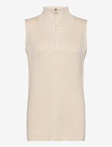 RODEBJER LADA - knitted vests - ceramic white