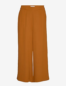 RODEBJER SIGRID TWILL - wide leg trousers - cinnamon