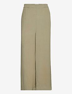RODEBJER SIGRID TWILL - bukser med brede ben - olive leaf