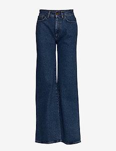 RODEBJER HALL - uitlopende jeans - vintage blue