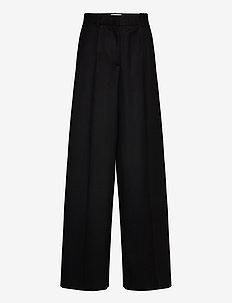 RODEBJER OONA - bukser med brede ben - black