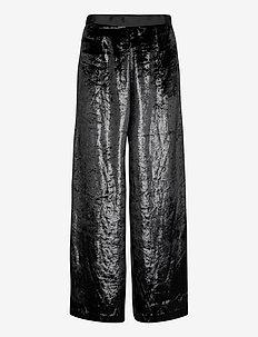 EINA VELVET - maxi skirts - black