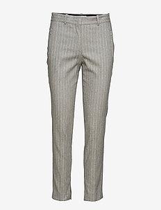 PALOMA STRIPE - straight leg trousers - grey