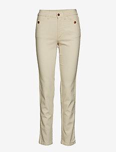 Eyvor - slim fit spodnie - ecru