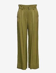 GURAYA - wide leg trousers - khaki green