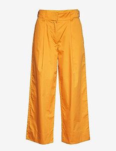 TANDERFIT COTTON - wide leg trousers - mango
