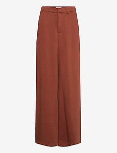 RODEBJER MICHELLA - wide leg trousers - raw umbra