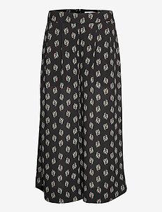RODEBJER ORINA - bukser med brede ben - black