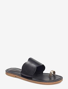 RODEBJER KATH - płaskie sandały - black