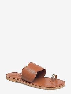 RODEBJER KATH - flade sandaler - hazel