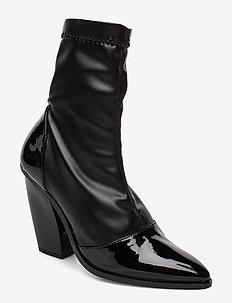 RODEBJER CILI BLACK - ankelstøvletter med hæl - black
