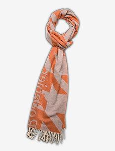 RODEBJER HOUNDSTOOTH SCARF - scarves - sharp orange