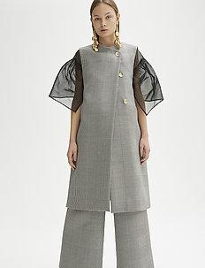 RODEBJER GALIANA DOGTOOTH - vests - grey