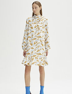 RODEBJER KLEMENT BIRD - shirt dresses - ecru