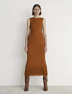 RODEBJER ETTAHRA - midi dresses - cinnamon