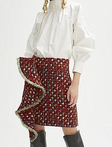RODEBJER ROZSI - short skirts - brick red