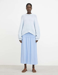RODEBJER KADIHA CREPE - midi skirts - cloud blue