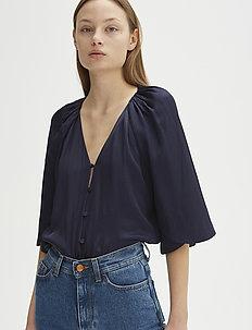 RODEBJER LARA BLUES - short-sleeved blouses - navy