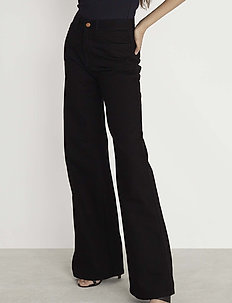 RODEBJER HALL - flared jeans - black